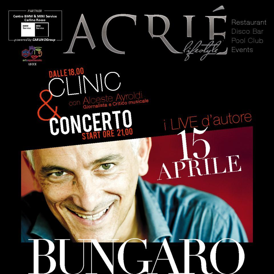 Tony Bungaro • Acrié Lifestyle • Dom 15.04.2018